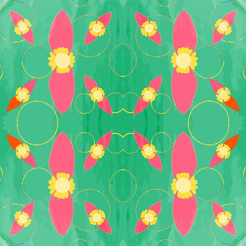 Fabric - LP Pea Flower Green