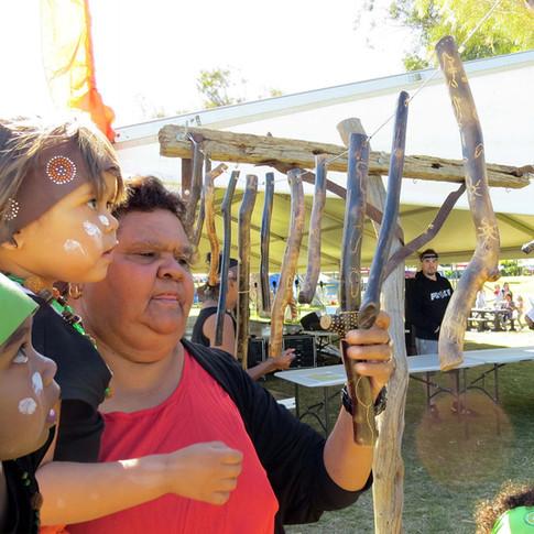 Lead Artist and community coordinator Colleen Drage, Kalbarri Zest festival 2016.