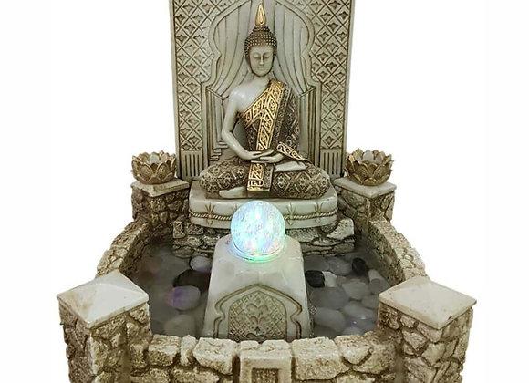 Fonte De Águe Buda Hindi Gigante Lago com luz colorida