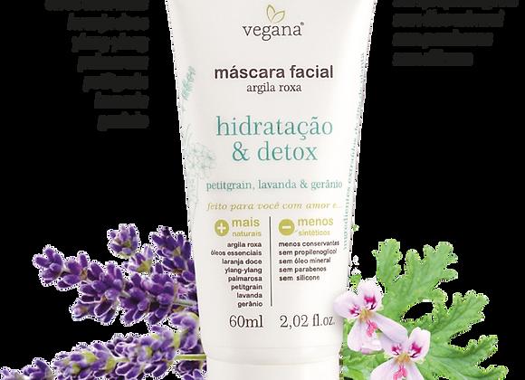 Máscara Facial Argila Roxa - Vegana