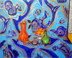 Azure Blue Still Life