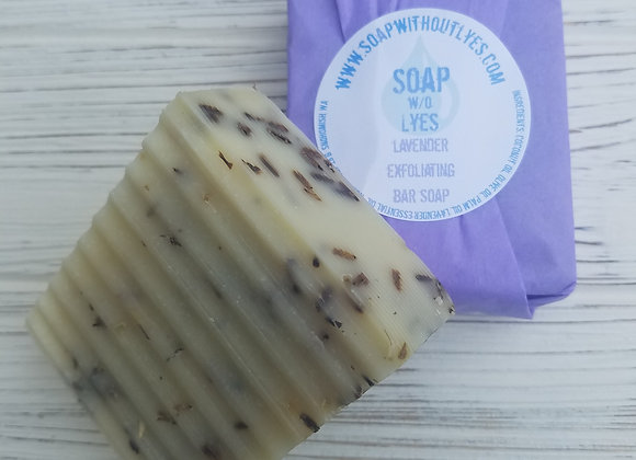 Lavender Exfoliating Bar Soap (3 pack)