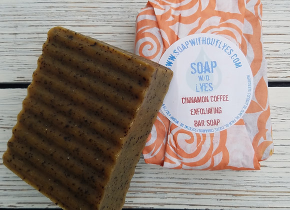 Cinnamon Coffee Exfoliating Bar Soap (3 pack)
