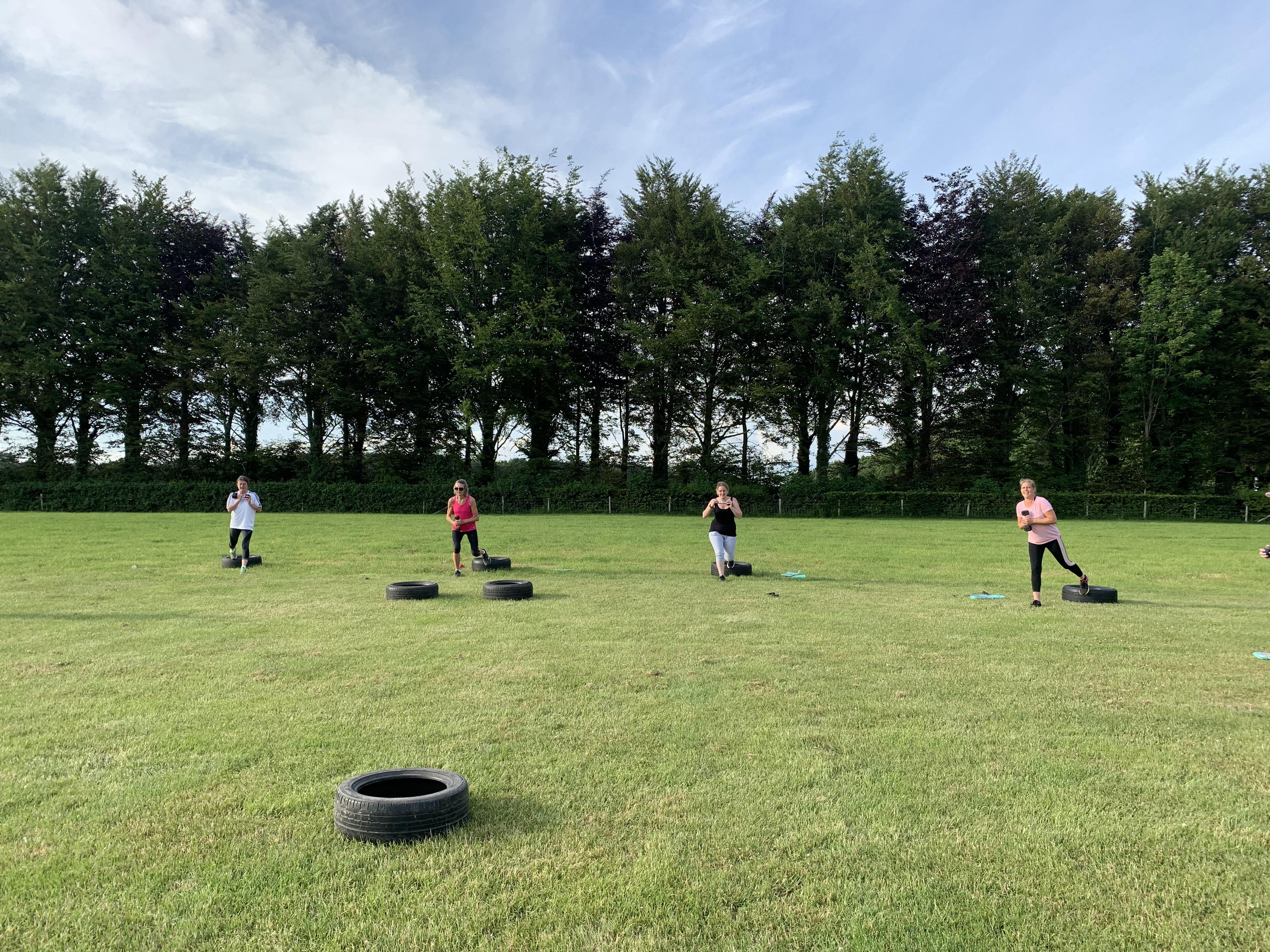 Outdoor fitness summer pop up classes