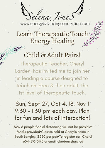 Learn Therapeutic Touch Energy Healing C