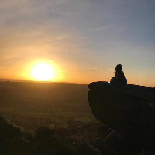 Sun down at the Peak District