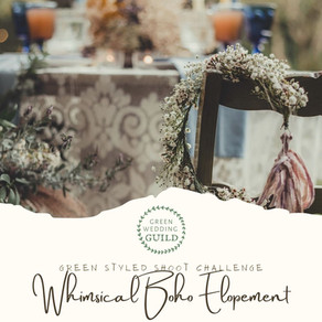 Whimsical Boho Elopement- Green Wedding Styled Shoot Challenge 2020