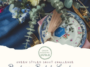 "Blueberry Bridal Luncheon and ""Fall In Love"" Reception- Green Wedding Styled Shoot Challenge 2020"