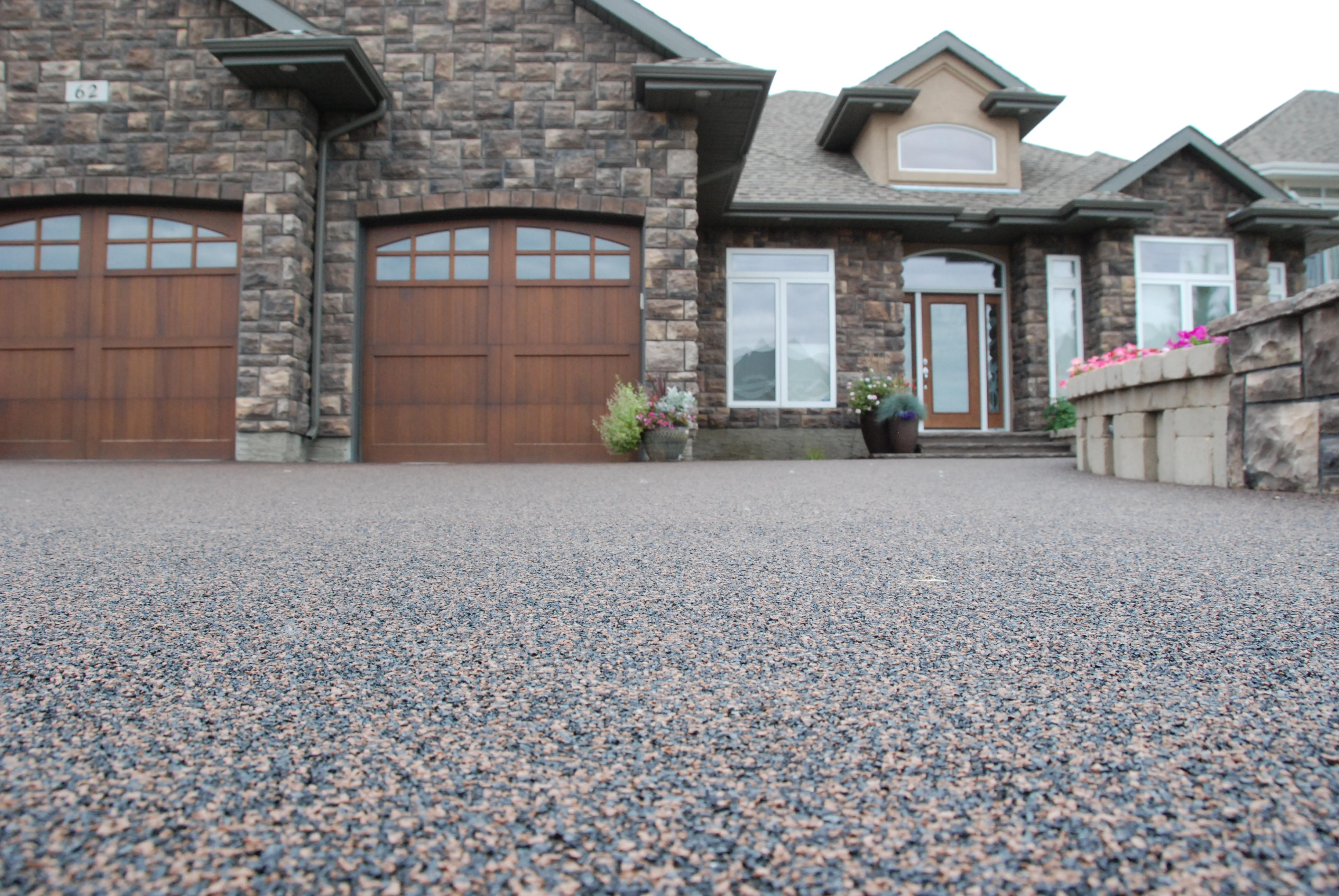 rubber paved driveway