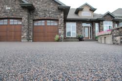rubber paved driveway