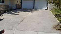 damaged concrete driveway - before
