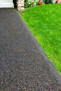 rubber paving - black brown fleck