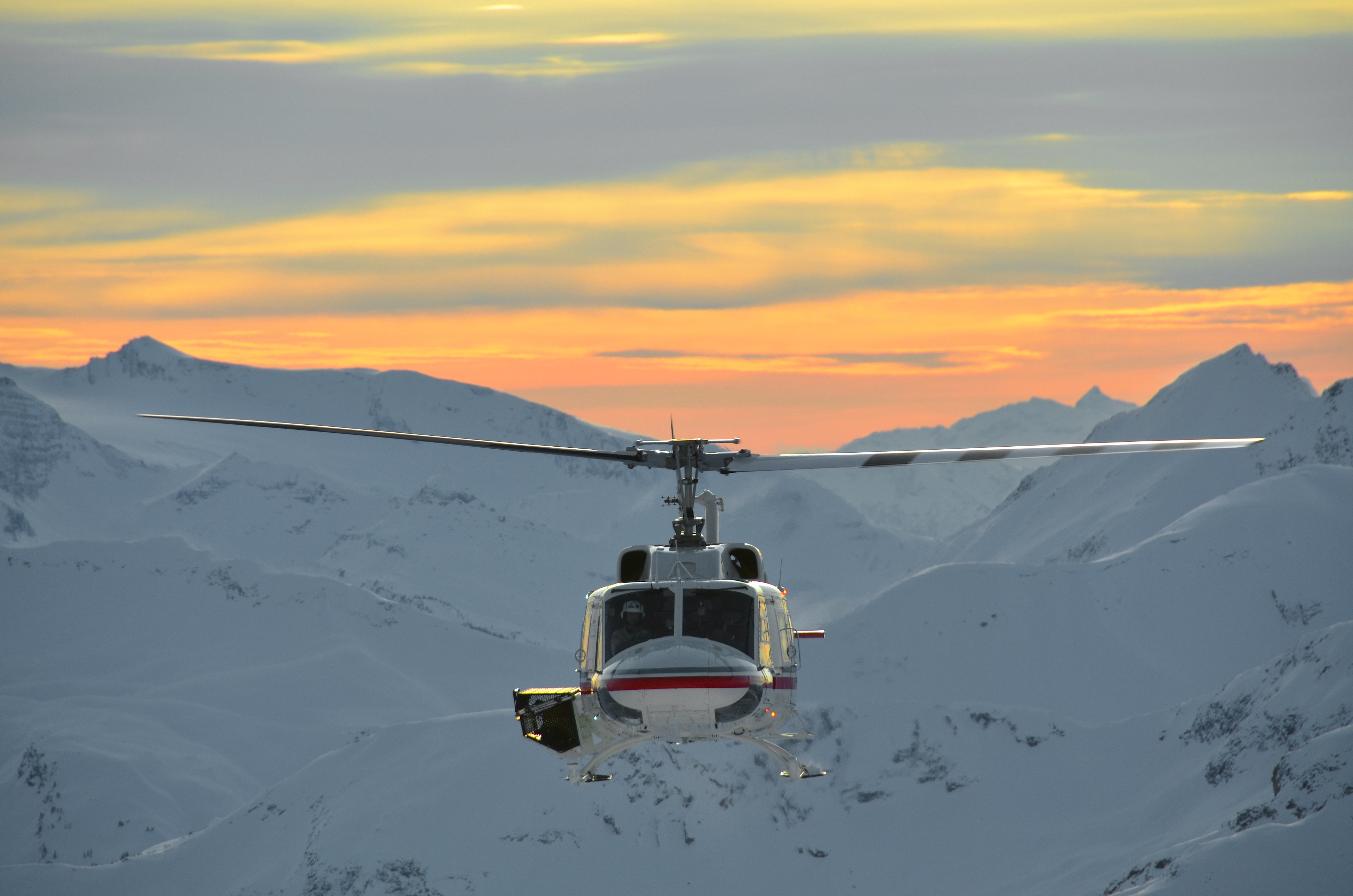 Helicopter with Sunset, Danny Stoffel