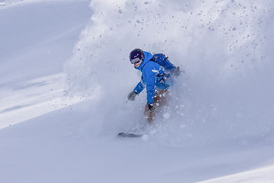 Snowboarder, Deep Powder - Ski Expo