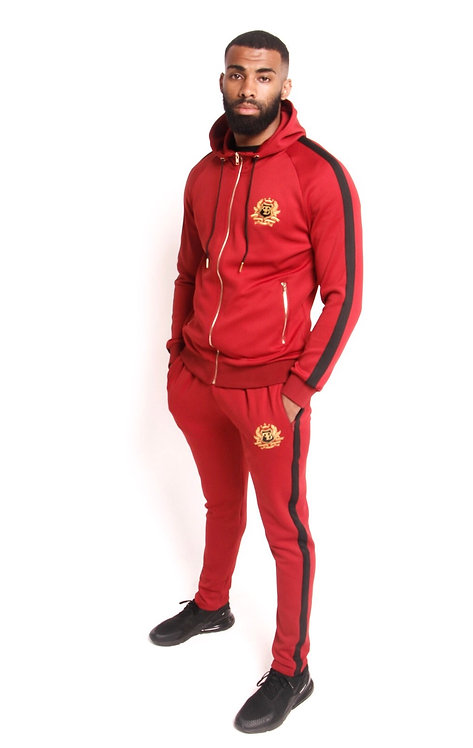 FB RED HOODED TRACKSUIT SET