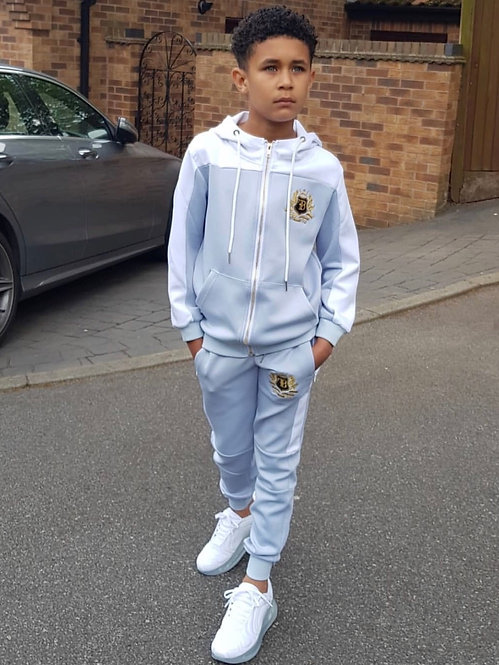 FB Junior Tracksuit Top Baby Blue