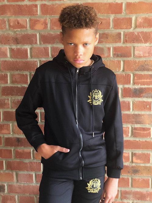 FB Junior Tracksuit Top Black