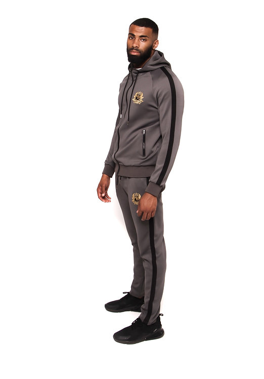 FB GREY HOODED TRACKSUIT SET