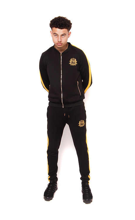 FB BLACK/GOLD TRACKSUIT SET