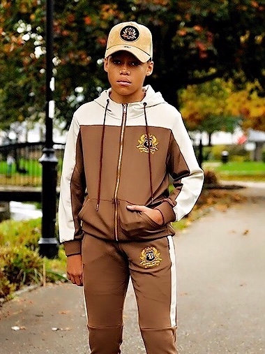 FB Junior Tracksuit Top Beige