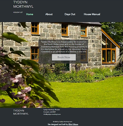 For this Project, the client required a dynamic page with information regarding their holiday cottage on very short notice - with a strict time scale of a week. They also needed a system where guests could access online pdf manuals and suggestions for days out.