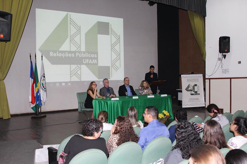 Abertura do Encontro Comemorativo de 40 anos do curso de Relações Públicas