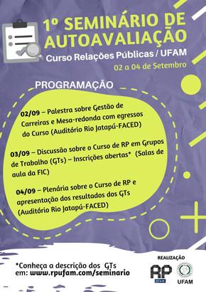 1º Seminário de Autoavaliação do Curso de Relações Públicas