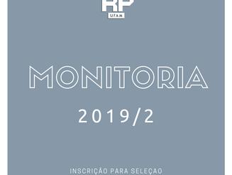 FIC abre processo de seleção para o Programa de Monitoria 2019/2