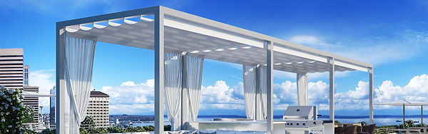 Stur Design Retractable Fabric Roof and Curtains
