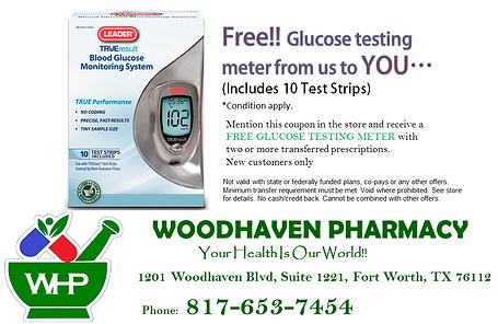 Free glucose testing meter copon