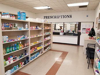 Woodhaven Pharmacy OTC section