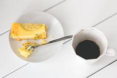 Café et gâteau au citron
