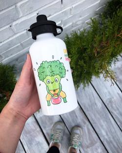 печать на спортивной бутылке