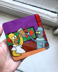 карманное зеркало с печатью