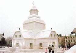 Snow church in Helsinki