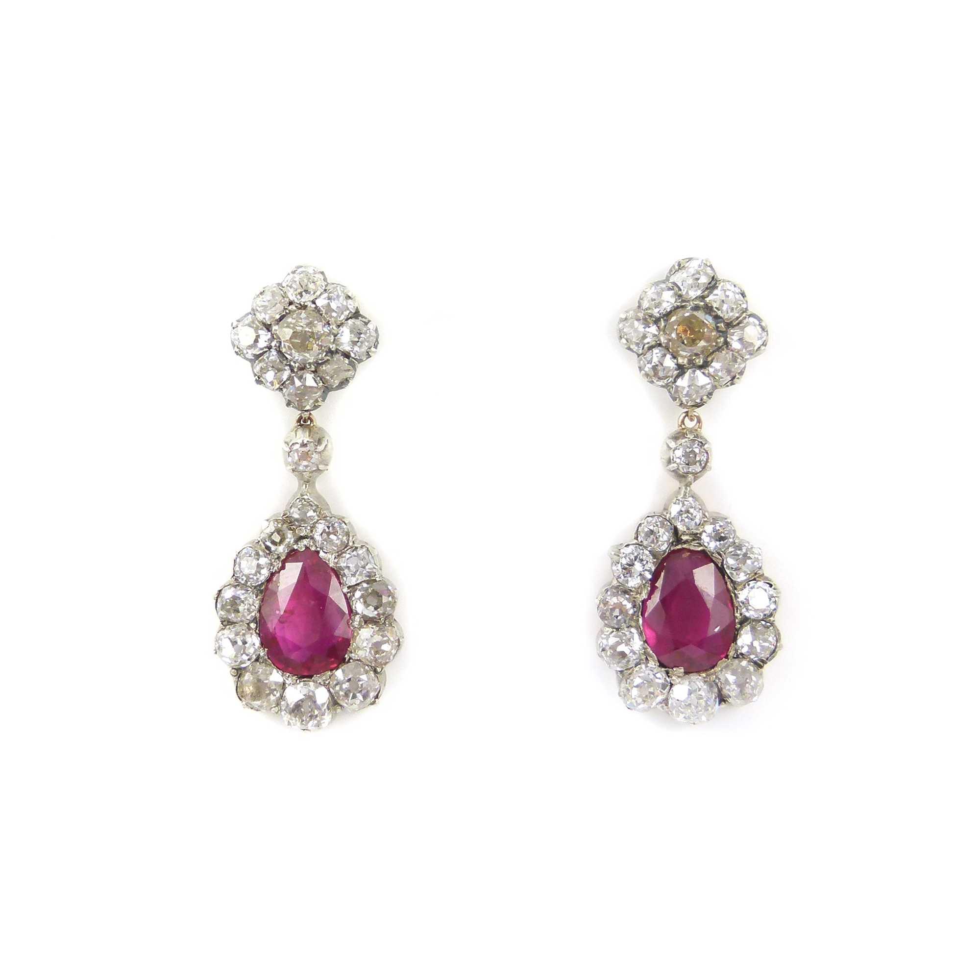 Sapphire and Diamonds earrings