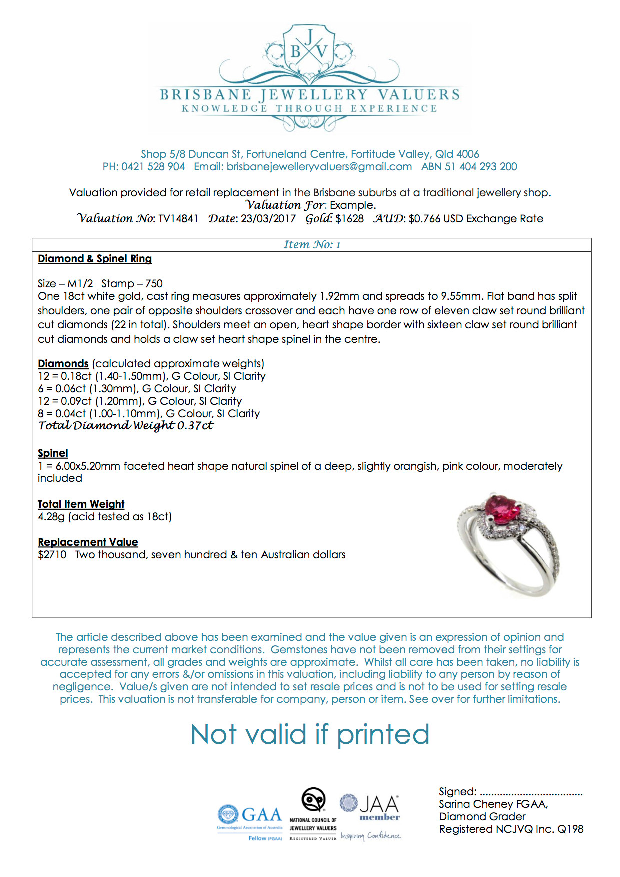 Independent Jewellery Valuation