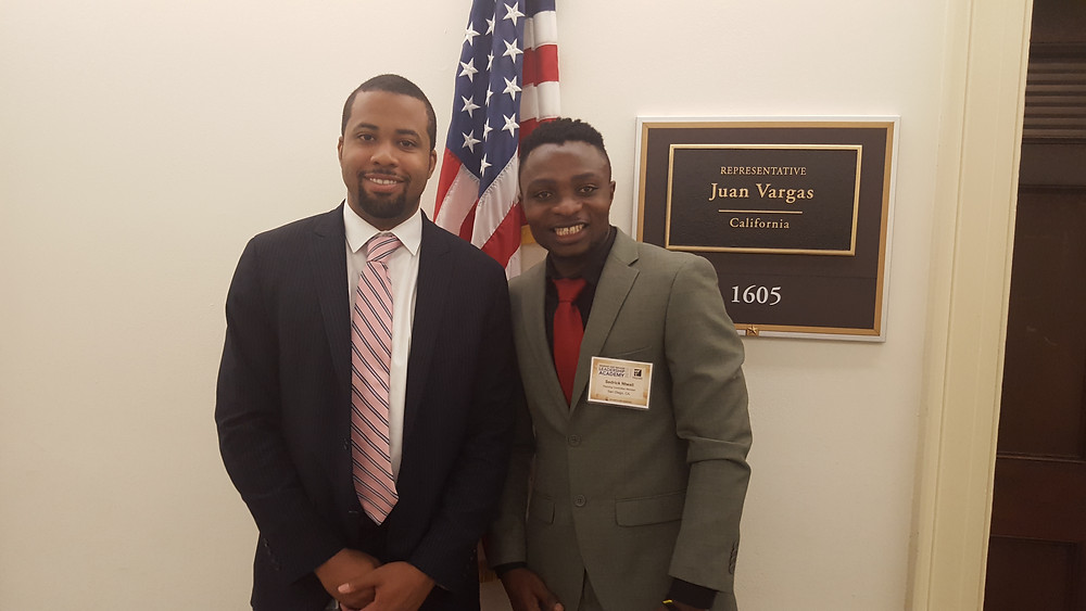 Sedrick visits Representative Juan Vargas (CA) office in DC during LIRS advocacy conference.