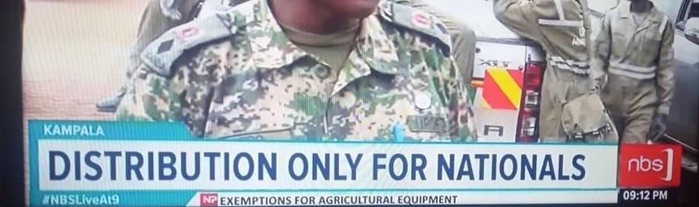 NBS TV Uganda press news on food distribution.