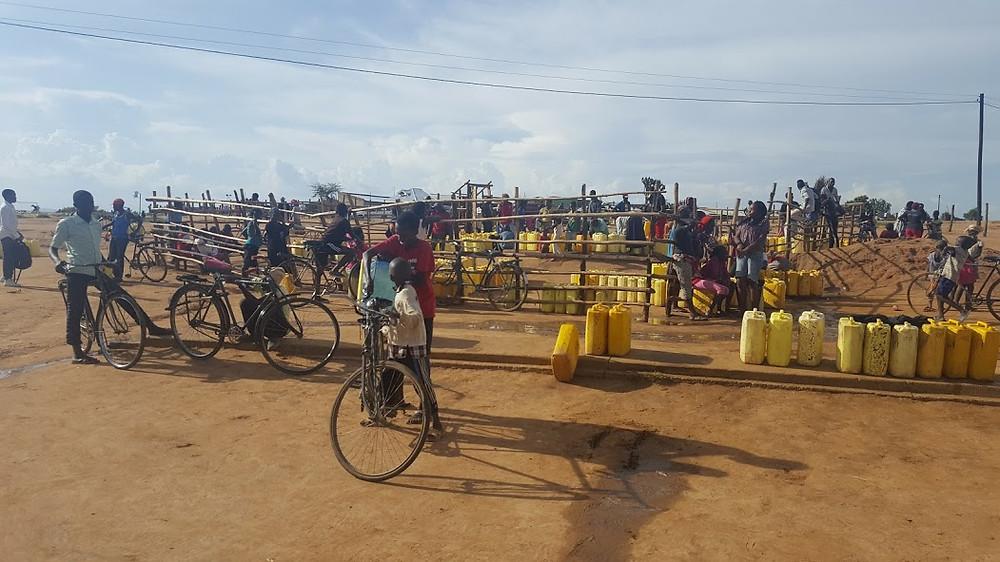 Nakivale settlement water filling station.