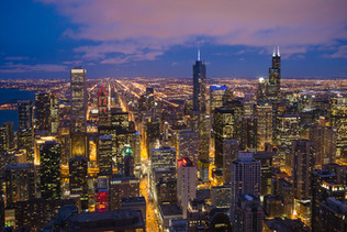 View of Chicago Skyline from the Signature Room