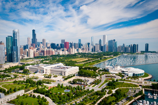 Aerial view of Chicago Museum Campus