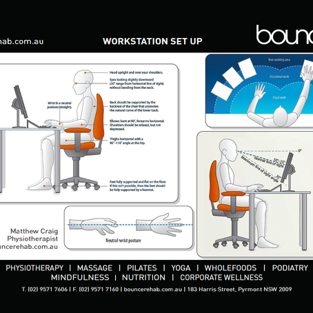 SETTING UP YOUR HOME WORKSPACE FOR YOUR ERGONOMIC HEALTH