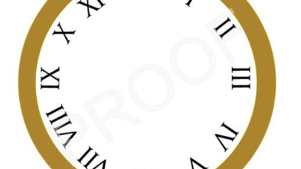 The Classic Printable Clock Face - Instant Download