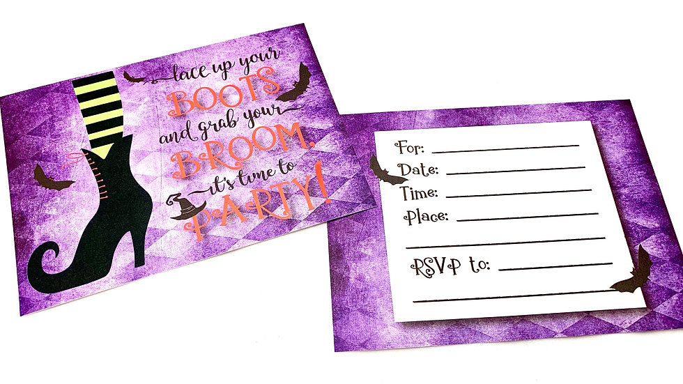 Witchy Fill In Halloween Invitations