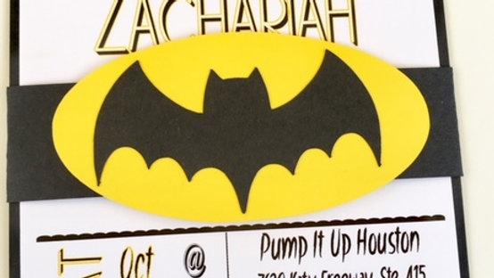 Batman Invitations - Holy Birthday Batman ~ Belly Band Style