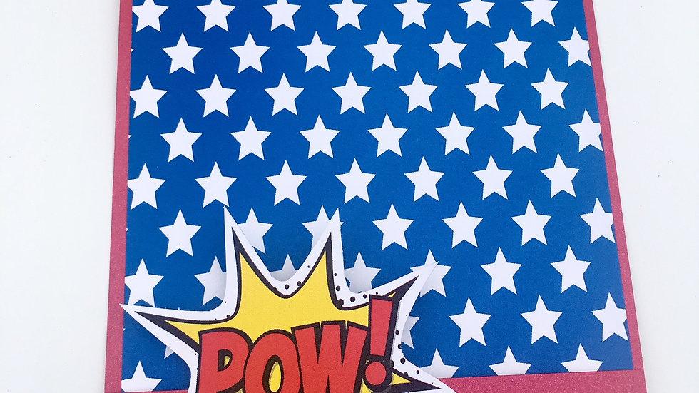Wonder Woman Themed Pocket Card