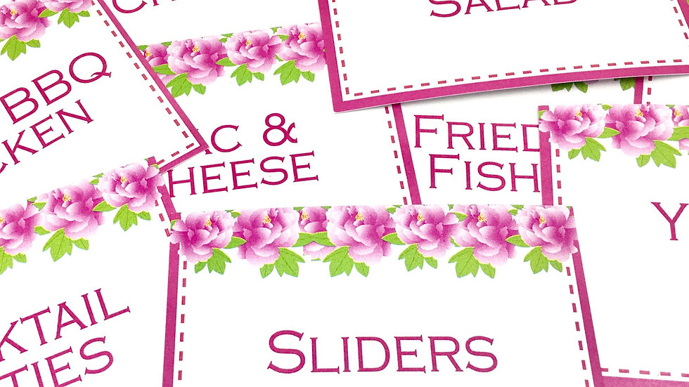 Flat Style Food Cards