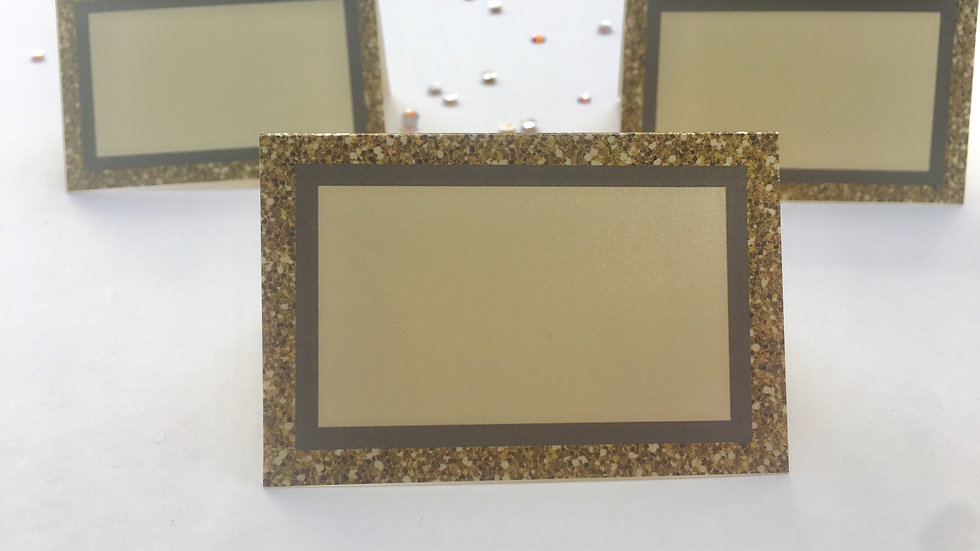 Gold Glitter Border (Simulated) Escort Cards - Instant Download