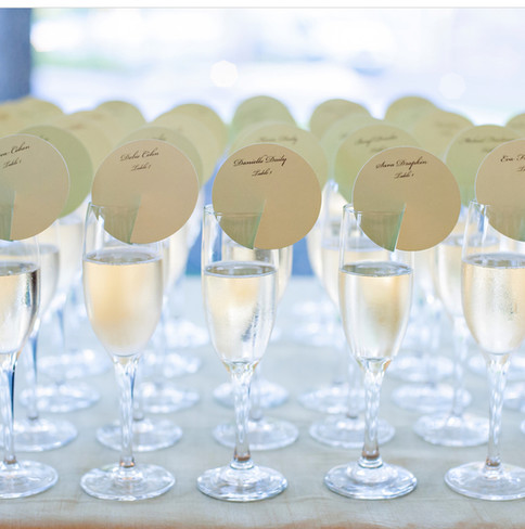 Champagne Flute Place Cards